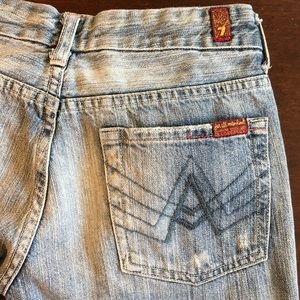 7 for all mankind A pocket light wash jeans sz 27